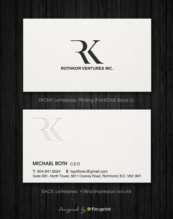 Letterpress business card design etsy image 0 colourmoves