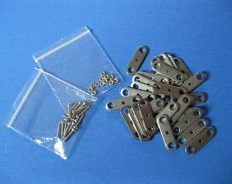 0e08c83b882fa Pack of 30 Steel Stop Motion Armature Compression Plates (with nuts & bolts)