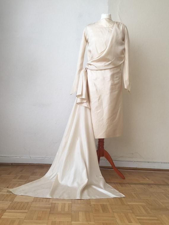 Original Vintage 1920s Brautkleid Hochzeitskleid mit