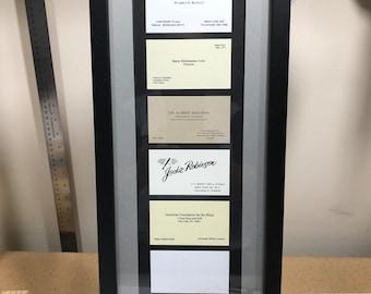 huge selection of 1b2b3 22d4c Custom Business Card Frame 11 Card Display Frame Rustic | Etsy