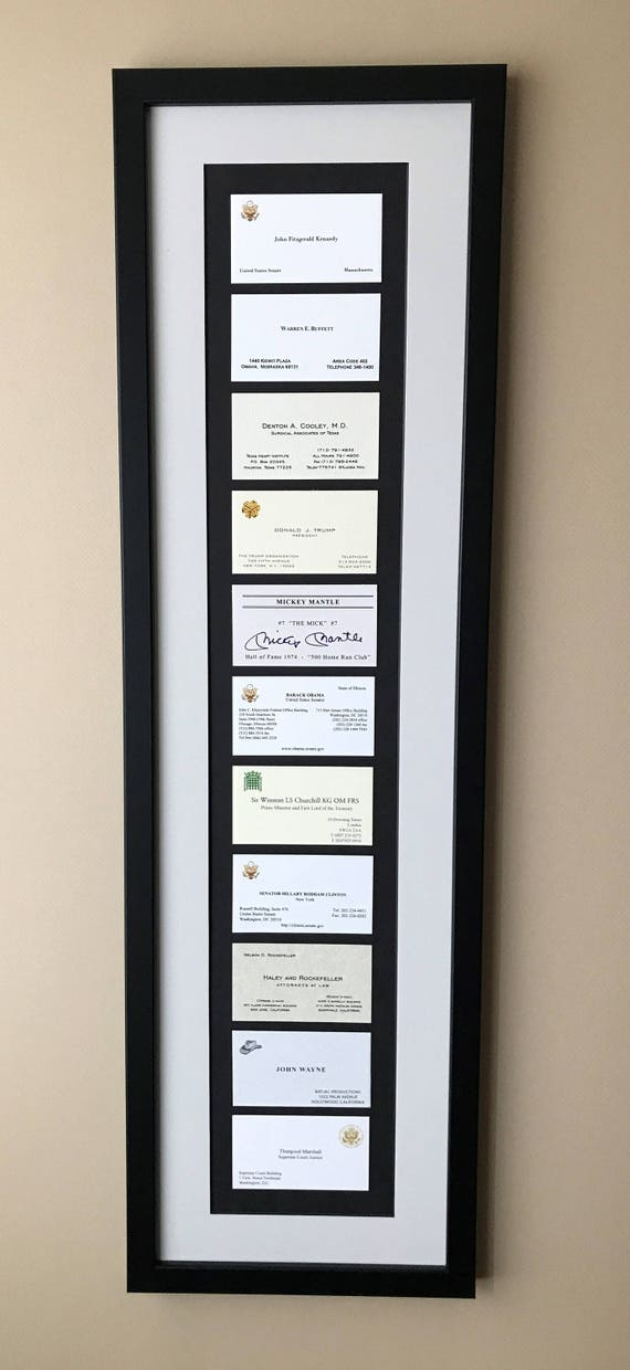 Gift Framed Famous Business Cards