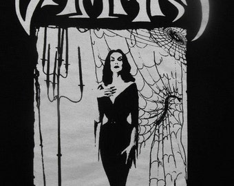 VAMPIRA BACKPATCH horror host  goth punk
