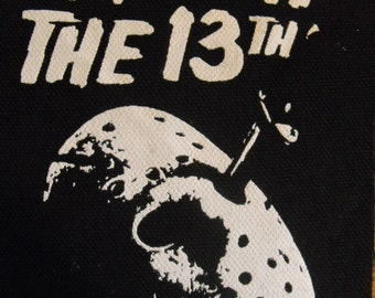 FRIDAY THE 13th  patch horror movie  jason vorhees Free Shipping