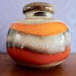 Scheurich 284 vase ceramic vase 70s orange pop art fat lava 70's midcentury modernist orange