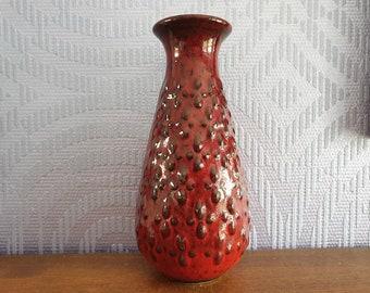 Jasba vase ceramic ceramic vase red relief decor 60s 70s design Designclassics24