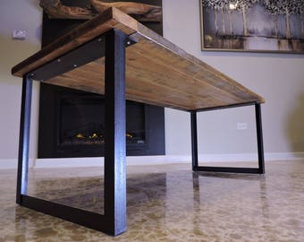 Steel Coffee Table Base, Raw Steel, Custom Sizes Available