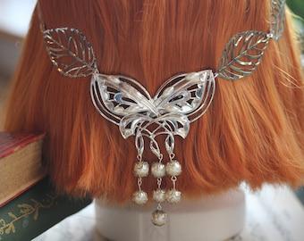 Arwen VIII' Elven Fantasy Hair Jewelry Butterfly & Tiara
