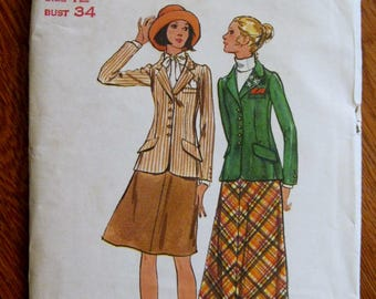 Sewing Pattern Butterick 6569, Misses 12, Jacket and Skirt, UNCUT