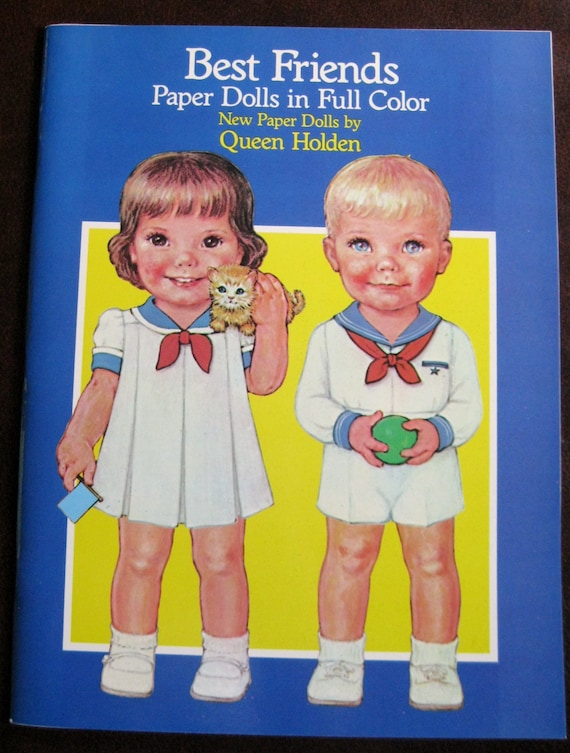 Vintage UNCUT 1985 Queen Holden Hair-Do Paper Doll Book Whitman Dress Up