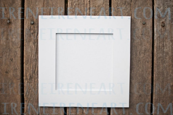 8x8 Mats For 5x5 Art 8x8 Pre Cut White Mats Bulk Craft Etsy