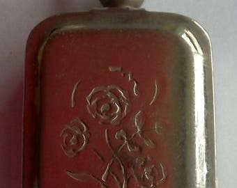 Antique Metal Stamp Locket with stamp