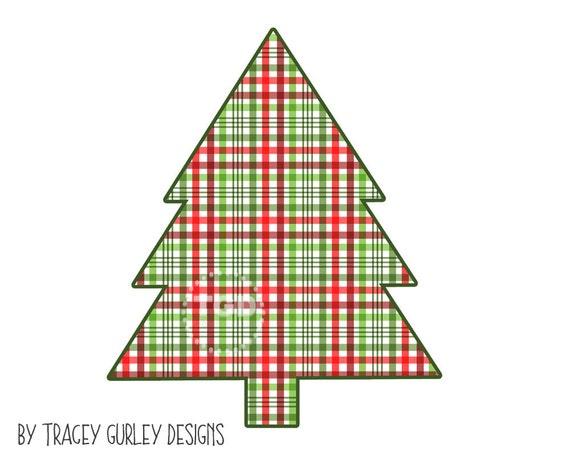 Weihnachtsbaum Clipart Grafiken Plaid Weihnachten Etsy