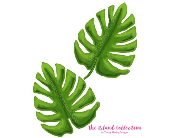 palm leaf art original art download tropical clip art etsy