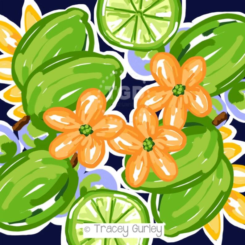 Preppy Limes watercolor digital paper digital download digital paper commercial use preppy paper scrapbook paper