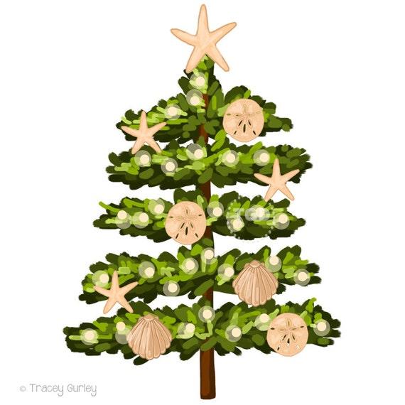 Strand Weihnachtsbaum Clipart Grafik Clipart Urlaub Urlaub Etsy