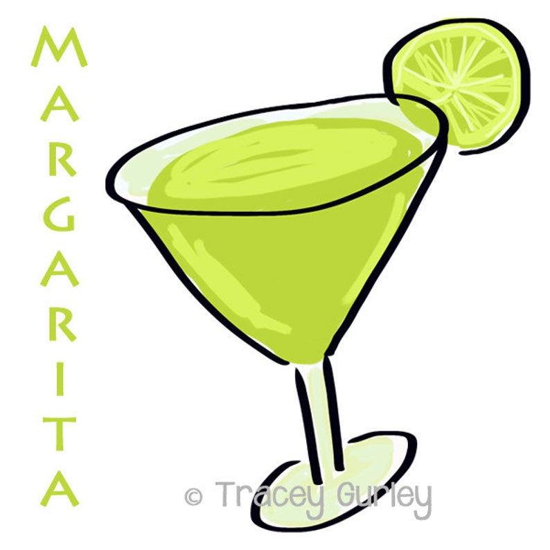 Margarita Illustration Original Art Digital Download. image 0