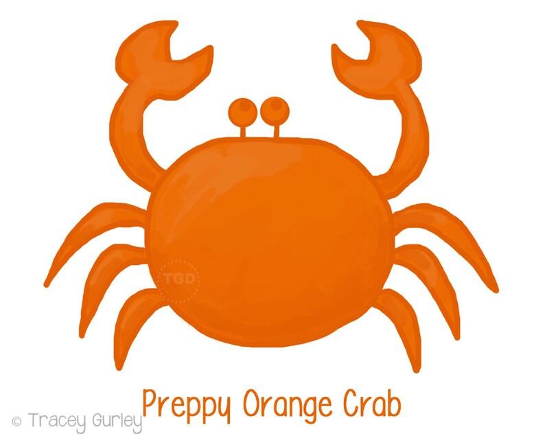 Preppy Orange Crab  Original art download 2 files orange image 0