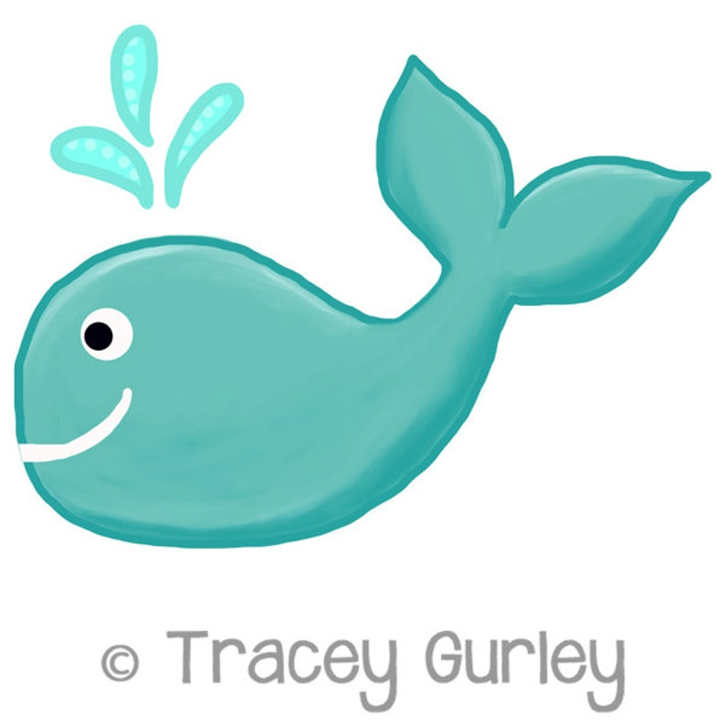 Turquoise Whale Original Art download turquoise whale clip image 0
