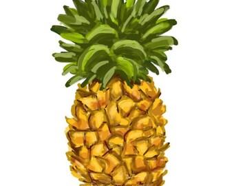 Pineapple - Original art download 2 files, pineapple printable, pineapple clip art