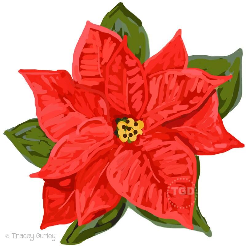 Red Weihnachtsstern ClipArt Weihnachtsstern Clipart Clipart | Etsy