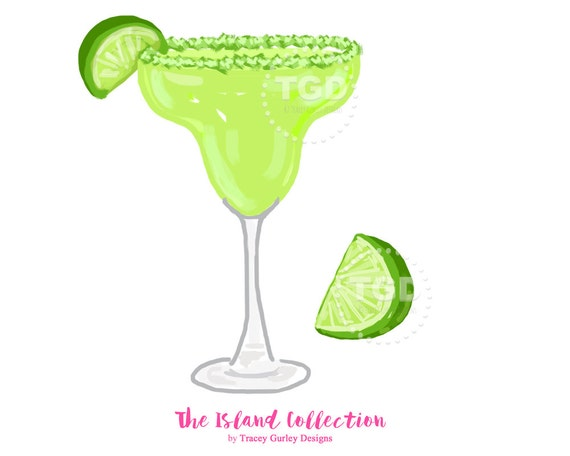 Clip Art Cocktail with Lime