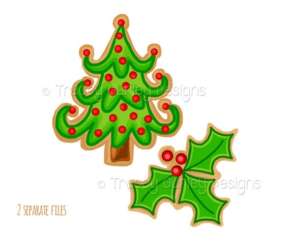 Christmas Cookies Clipart.Christmas Cookie Clipart Christmas Tree Clip Art Holly Clip Art Christmas Clip Art Christmas Clipart Holiday Clipart Digital Download