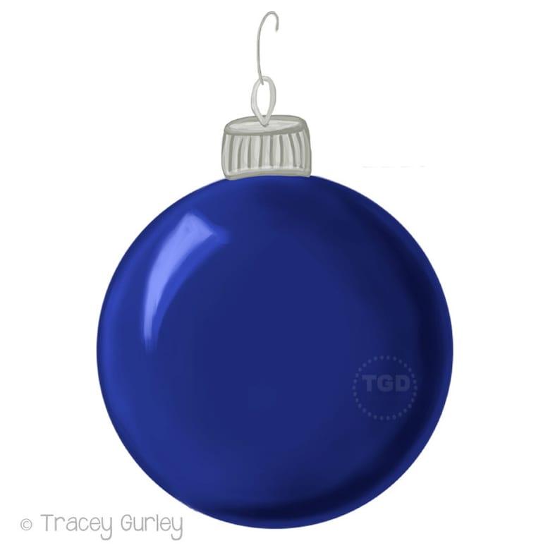 Navy Blue Christmas Ornament Clip Art Hand Painted Clip Art Christmas Clip Art Christmas Ornament Graphic