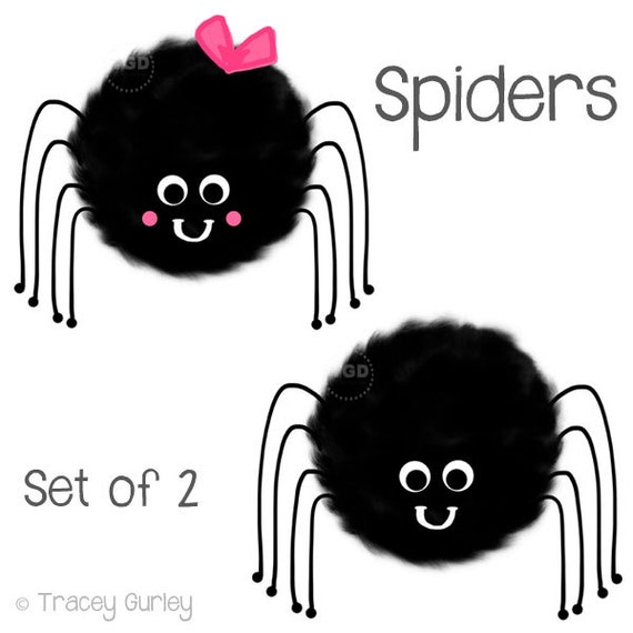 cute spider clipart hand painted clip art halloween clip rh etsy com free cute spider clipart cute halloween spider clipart