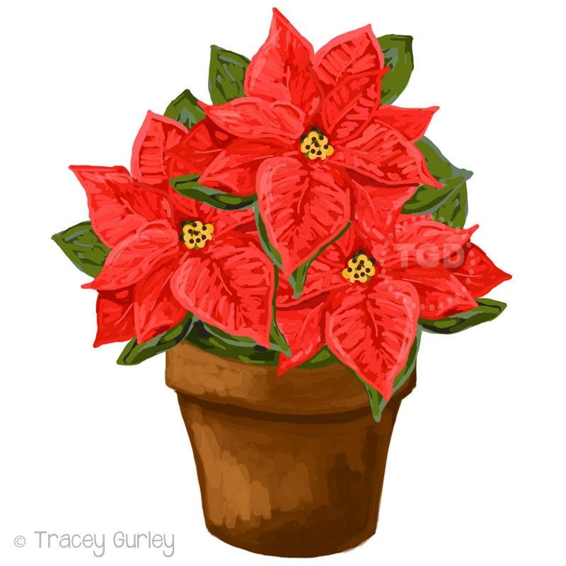 Roten Weihnachtsstern ClipArt Download Cliparts Urlaub | Etsy