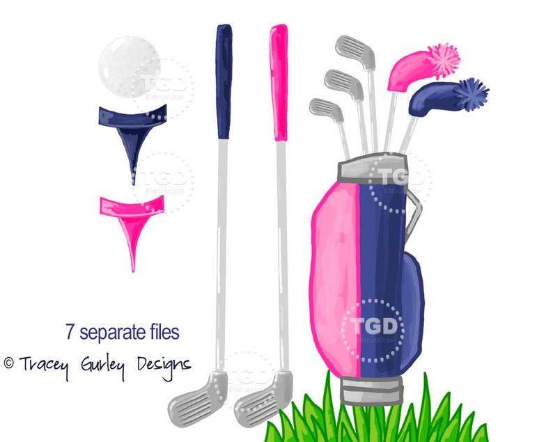 Golf clip art golf clipart preppy clip art golf bag golf image 0