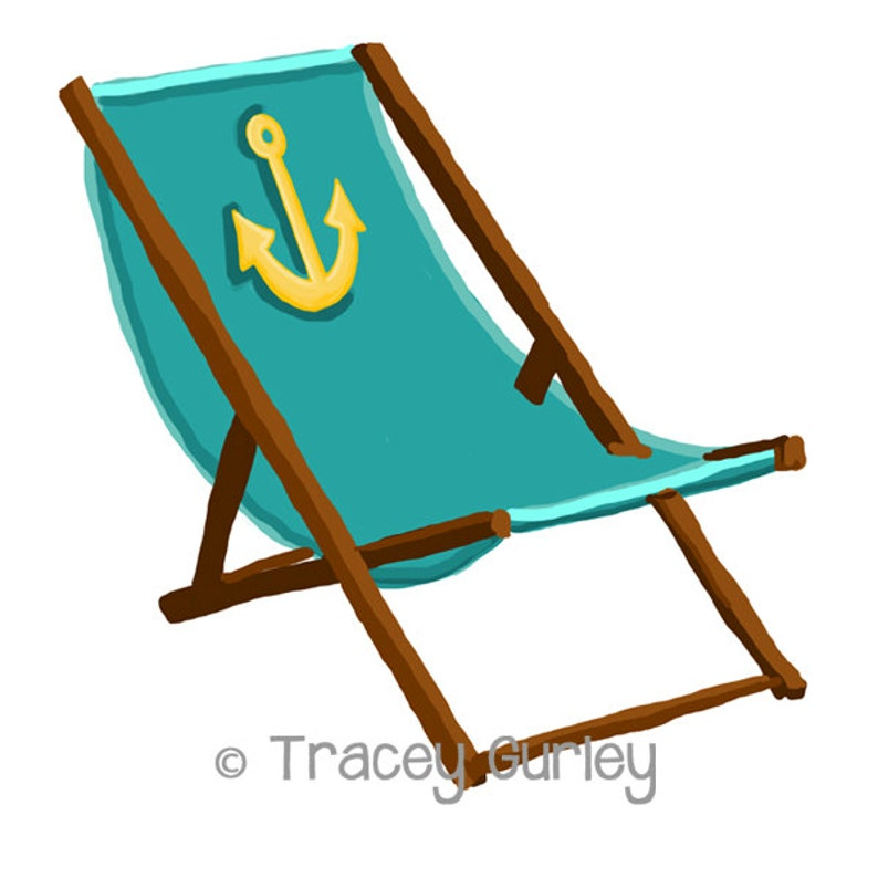Turquoise Beach Chair with Anchor  with and without Sand  image 0