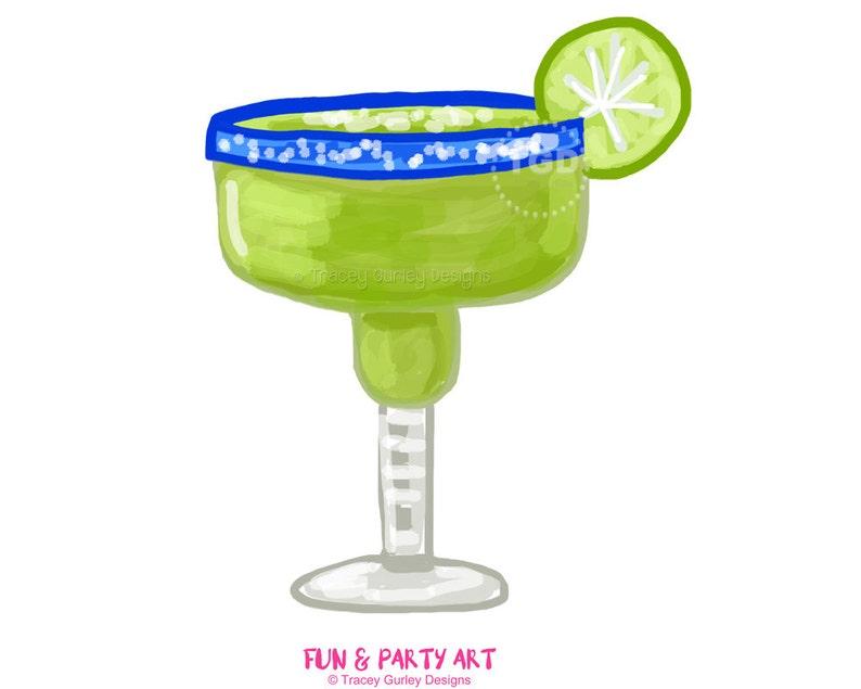 Margarita clipart margarita glass invitation art watercolor image 0