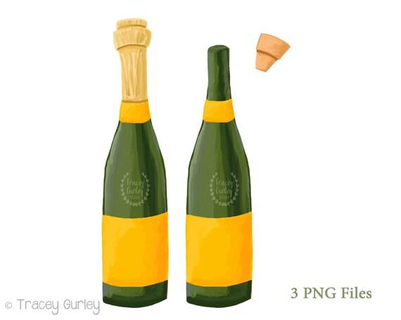 champagne clipart champagne bottle clip art new years etsy rh etsy com Pink Champagne Bottle Clip Art champagne bottle and glasses clipart