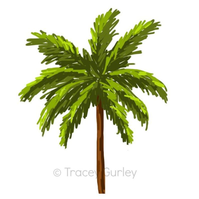 Palm Tree  Original art download 2 files palm tree clip image 0