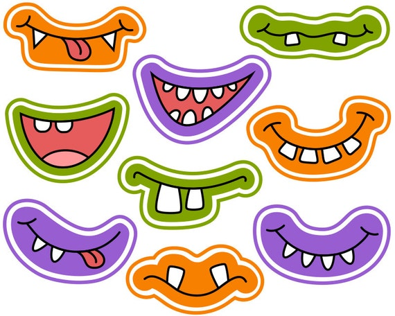 Striking image for printable monster faces