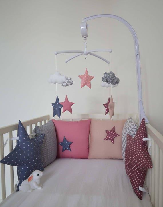 Tour de lit bébé \'La tête dans les étoiles\' coloris | Etsy