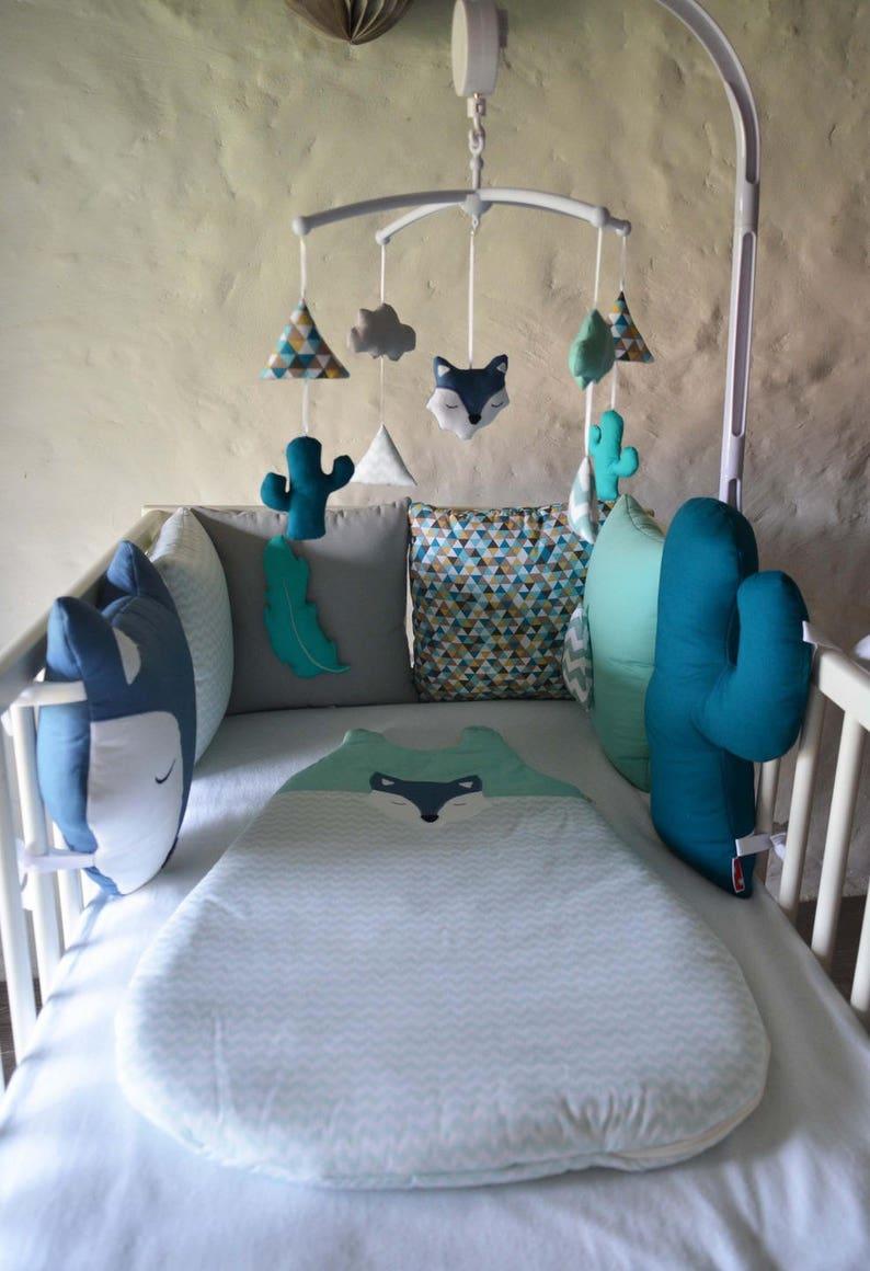 Tour de lit bébé \'WolF Ki PiK\' | Etsy