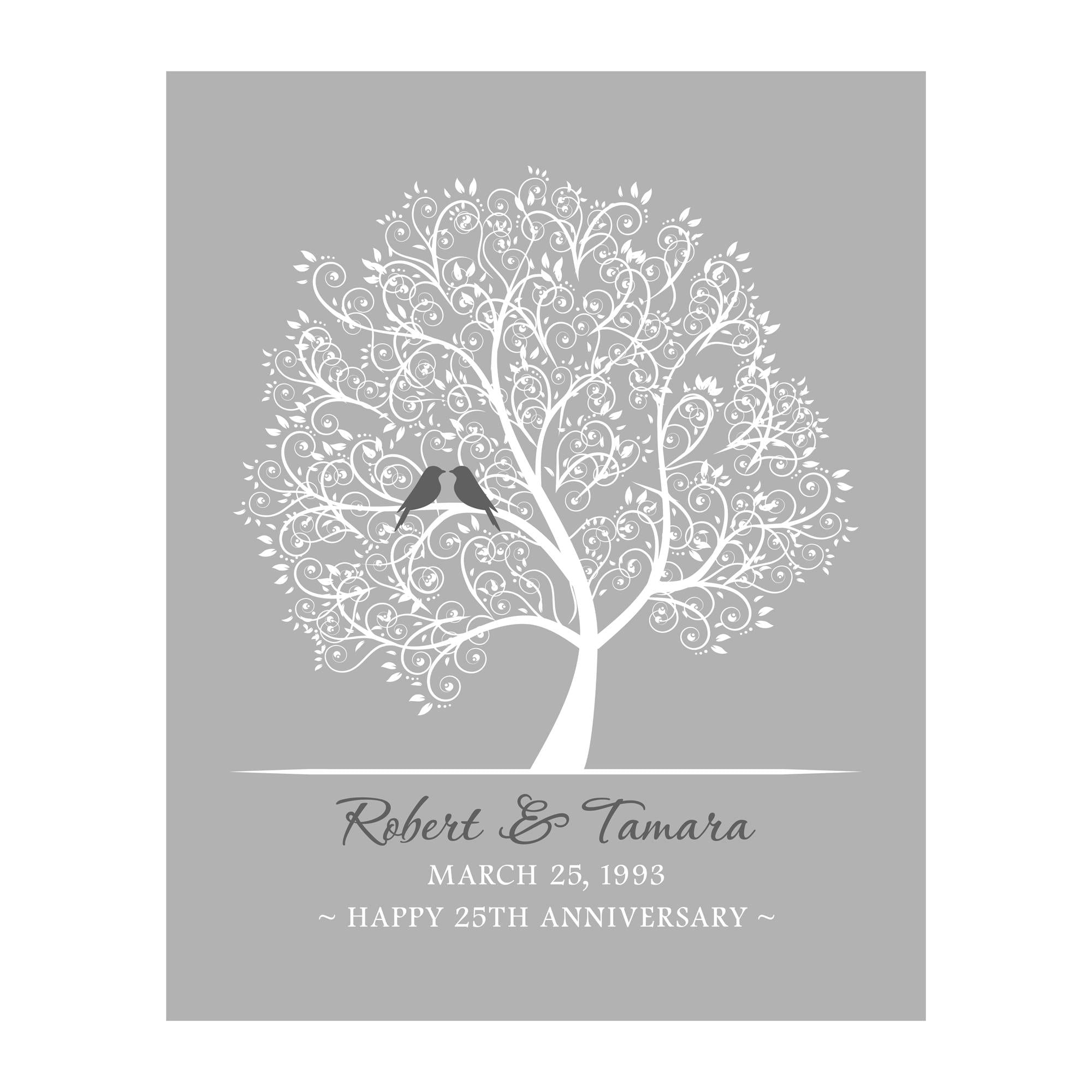 25th Wedding Anniversary Gifts For Wife: 25th Anniversary Gift For Couple Husband Wife Personalized