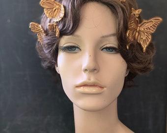Butterflies in her hair seven golden hairpins. Free shipping!
