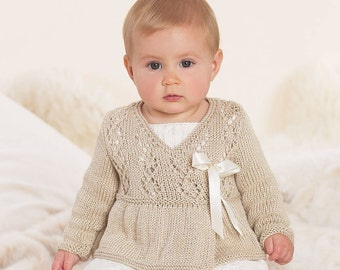 Baby Ballerina Wrap, Baby Knits, Baby Girl Knits, Sizes from Newborn, Baby Shower Gift, Flower Girl
