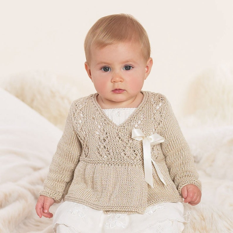 Baby Ballerina Wrap Baby Knits Baby Girl Knits Sizes from image 1