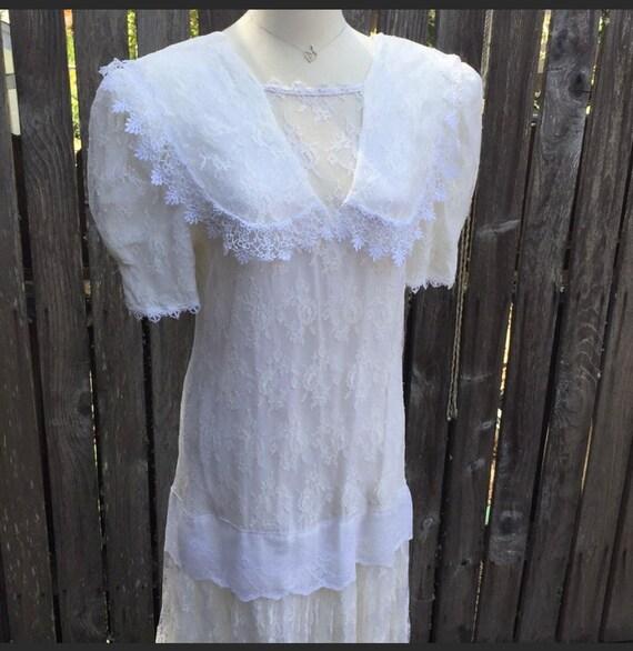 Scott McClintock Lace Dress Flapper 10 Vintage 80s