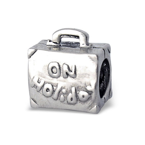 ef0eb5034126 BUNCHABEADS ON HOLIDAY Suitcase Bag Travel Luggage Bead Charm 925 Sterling  Silver - BD1700