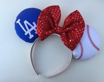 LA Dodgers Minnie Mouse Ears