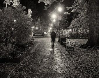 Portland Rainy Nighttime Walk / Photograph / Fine Art