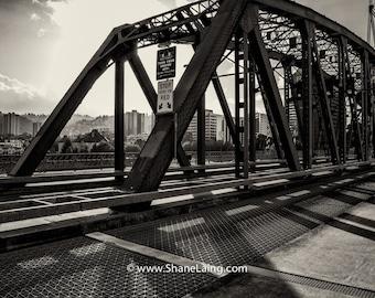 Portland Bridges / Hawthorne Bridge / Black and White / Fine Art Photography
