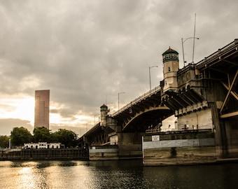 Portland Photograph / Burnside Bridge / Architecture / Fine Art / Black and White