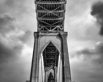 St. Johns Bridge Photograph / Portland / Architecture / Black and White / Fine Art