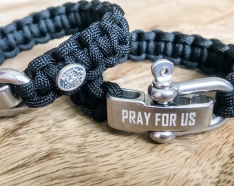 St. Michael paracord bracelet