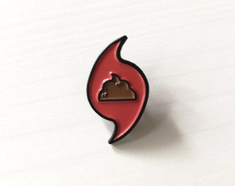 Sh!t Storm Lapel Pin: Enamel Pin, Flair, Sarcasm, Florida, Funny Pin, Gift, Sarcastic, Hurricane, 2016 Sucked, Donald Trump Not My President